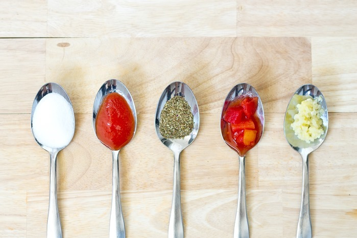 Homemade pasta sauce ingredients