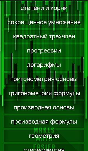 ЕГЭ Математика Формулы