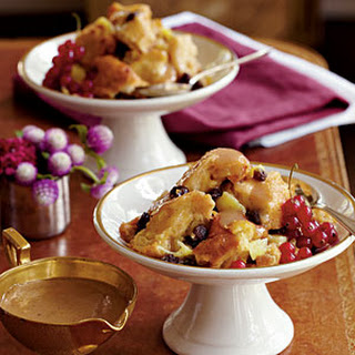 Creole Bread Pudding with Bourbon Sauce.