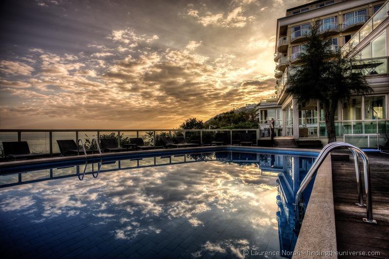 Hotel sans souci Gabicce Mare marche Italy pool area sunrise