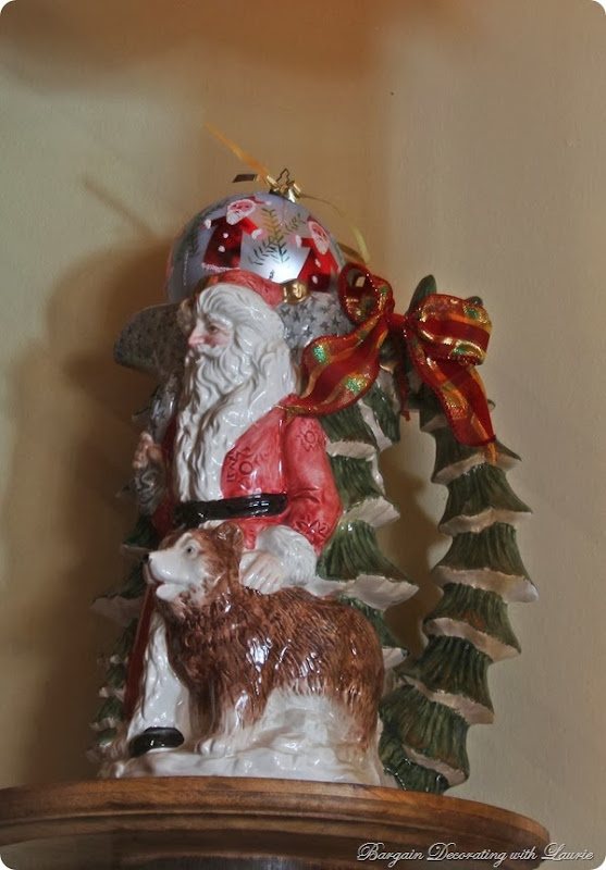 Santa Pitcher-Bargain Decorating with Laurie