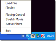 Desktop Movies menu contestuale di gestione