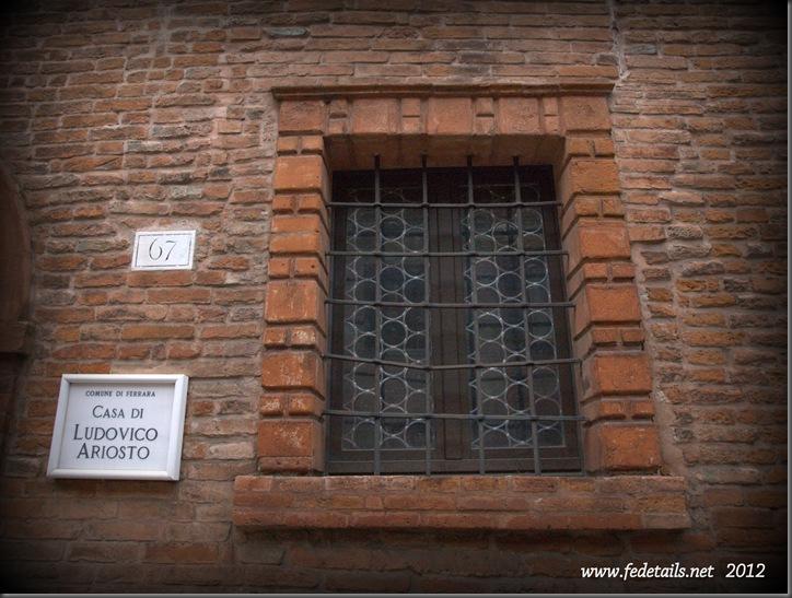 Casa di Ludovico Ariosto ( dettaglio finestra ), Ferrara, Emilia Romagna, Italia - The house of Ludovico Ariosto ( window details ),Ferrara, Emilia Romagna, Italy - Property and Copyrights of www.fedetails.net