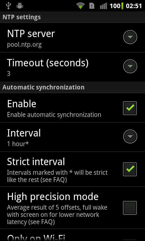 ClockSync- screenshot