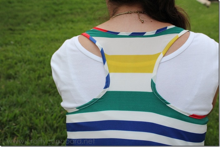 Striped Racer Back Tank by the Crafty Cupboard_Back View