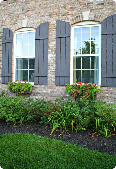 window boxes curved shutters