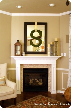 Walled Off Corner Fireplace