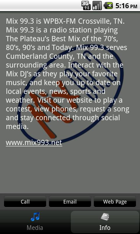 Mix 99.3 - screenshot