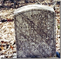 Elmira Gathings Tombstone