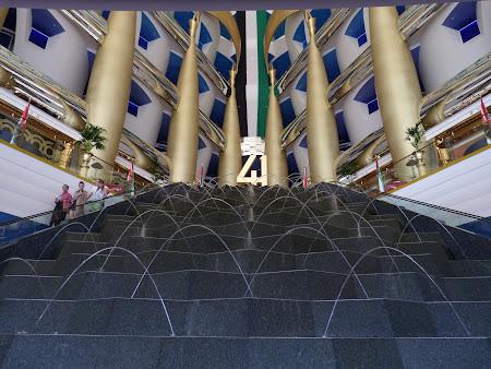 Obiective turistice Dubai: intrare Burj al Arab