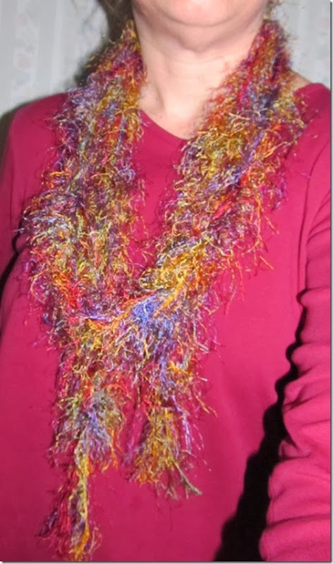 Easy Funky Scarf Tutorial---give a funky gift this holiday season!  Homeschooling Heart & Minds
