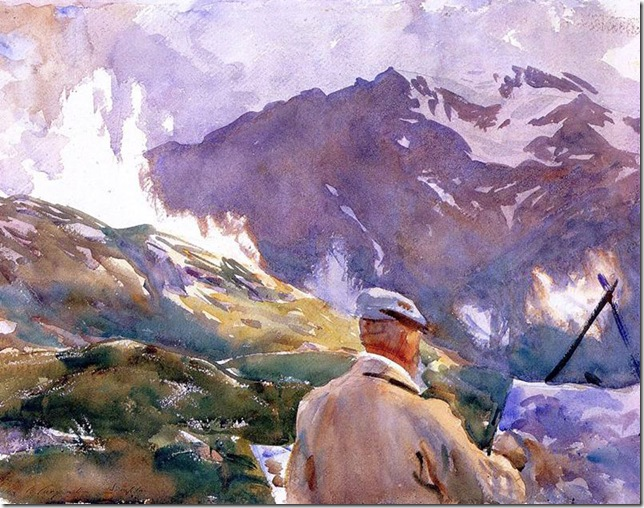 John Singer Sargent_Artist in the Simplon