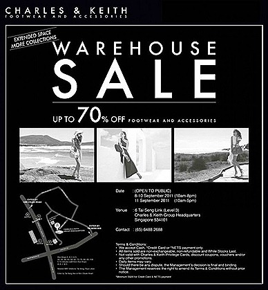 Charles & Keith warehouse SALE Singapore