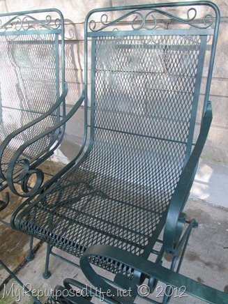 Lovely Green Wrought Iron Pation Furniture