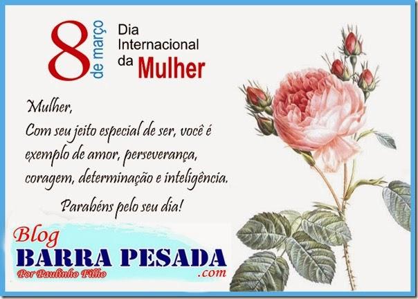 """""""FELIZ DIA INTERNACIONAL DA MULHER!"""". HOMENAGEM DO BLOG"""