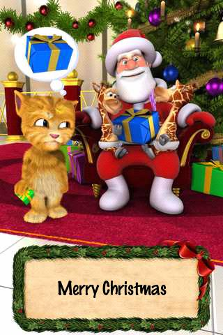 Talking Santa meets Ginger + - screenshot