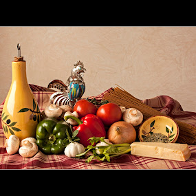 Window Light Still Life (Whats for Dinner?) by Thomas Crown - Food & Drink Ingredients