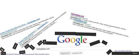Google desabando