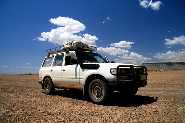 Fluffy - our Toyota Landcruiser 80 series.