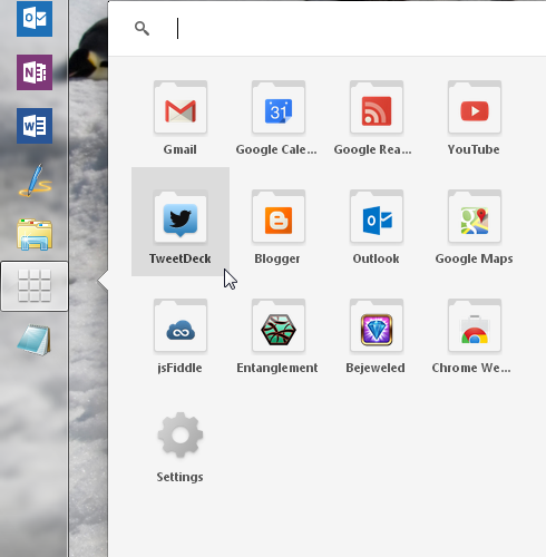Google Chrome 25 Apps Launcher