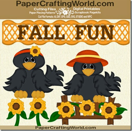 fall fun crows ppr cf-490