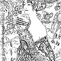 Klimt Mujer con abanico