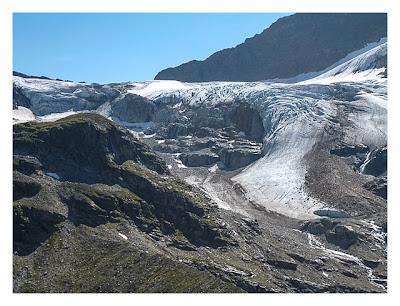 Geocaching in der Silvretta - Blick zum Ochsentaler Gletscher