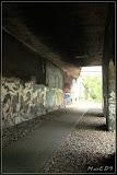 hier sind noch Spuren der Dampfdurchfahrten zu sehen