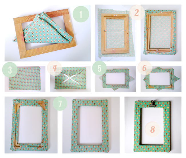 how to cover a picture frame in fabric