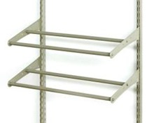 Closetmaid shelf track shoe rack