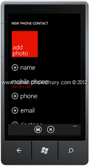 Screenshot 3 : How to Save Phone Number in WP7 using the SavePhoneNumberTask?