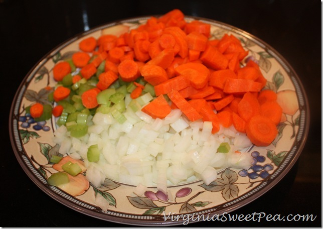 Onion, Carrot, Celery for Soup
