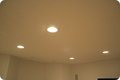 recessed lights basement