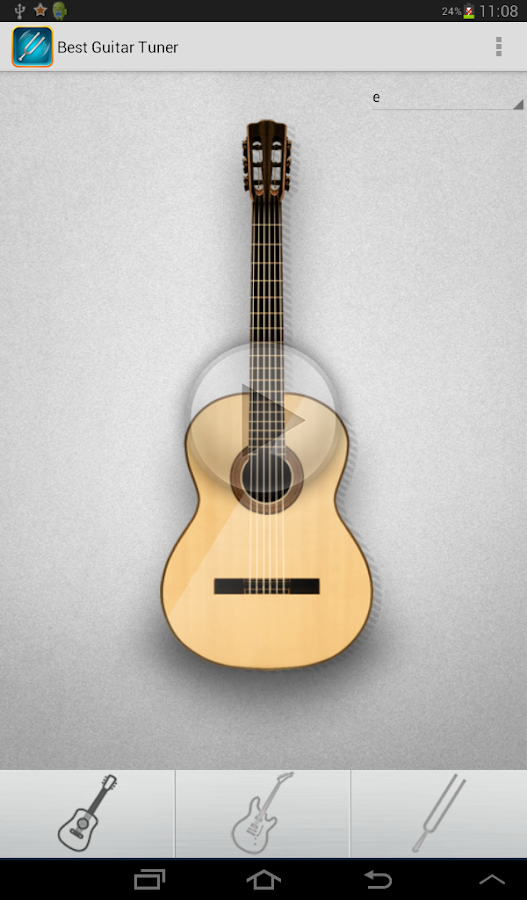 best guitar tuner ads free android apps on google play. Black Bedroom Furniture Sets. Home Design Ideas