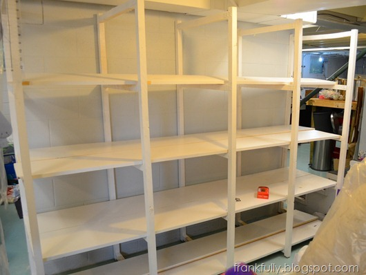 sewing room shelves installed