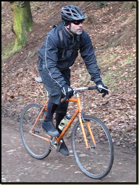 Huw on his single speed bike