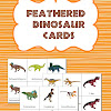 FREE Feathered Dinosaur Cards