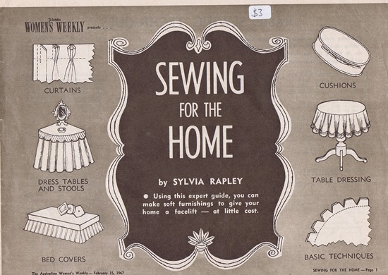 Sewing for the Home ~ Free .pdf | Lavender & Twill