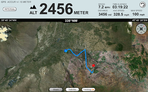 GPS Altimeter Speedometer +- screenshot thumbnail