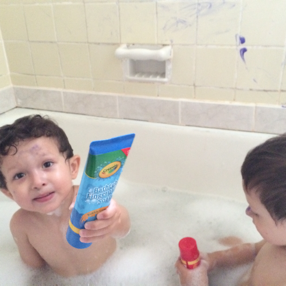 My Family Did What Review Crayola Bathtub Fingerpaint Soap