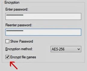 Encrypt file names