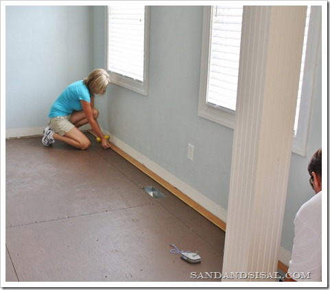 laying hardwood floors