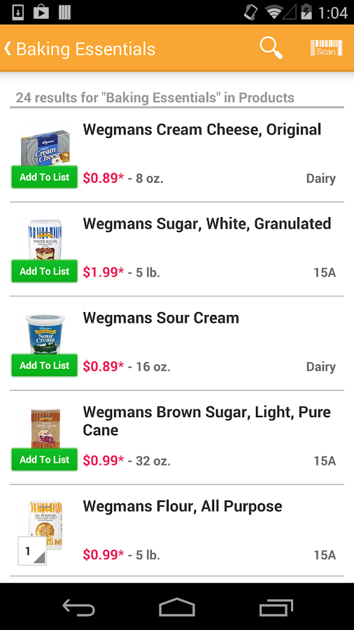 Wegmans - screenshot