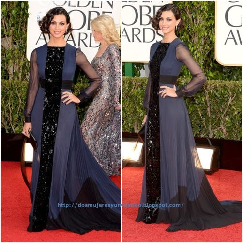 Morena Baccarin arrives at the 70th Annual Golden Globe Awards