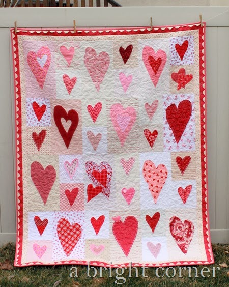 Friendship Heart Quilt by A Bright Corner