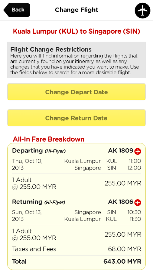 AirAsia - screenshot