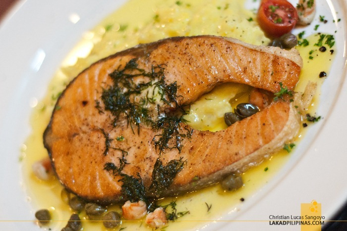 Millie's Pan Fried Salmon at Microtel MOA