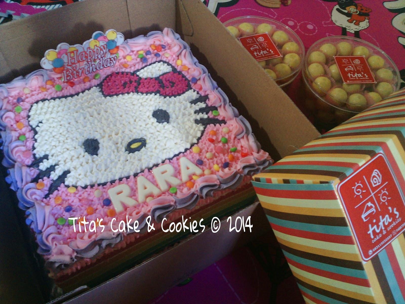 Tita S Little Kitchen Hello Kitty Rainbow Cake For Rara