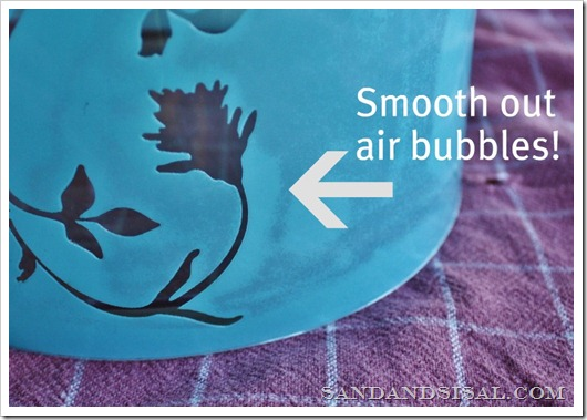 smooth out air bubbles
