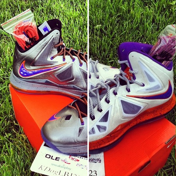 7821b6308944 Diana Taurasi8217s Nike LeBron X Phoenix Mercury Home amp Away PEs ...